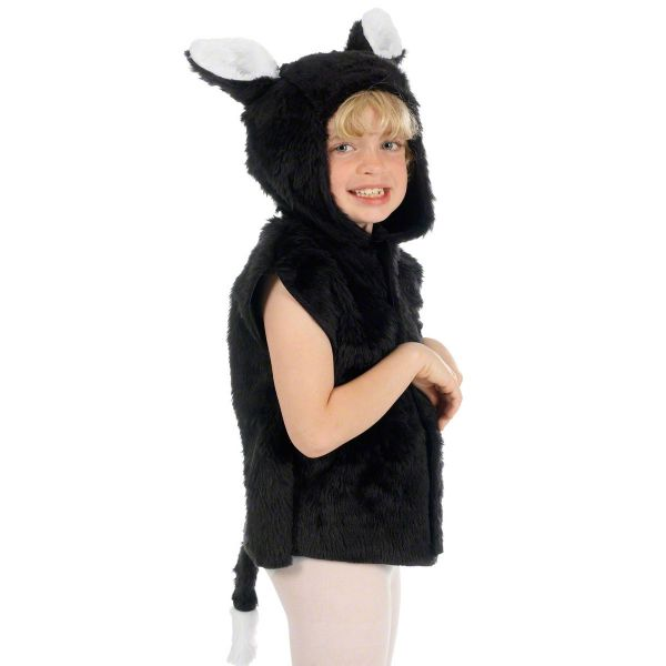 Children's Boys and Girls Black Fur Cat Tabard Costume